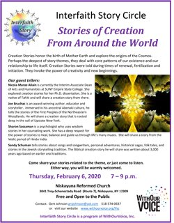 Stories of Creation From Around the World — Thursday, Feb. 6, 7:00 – 9:00 p.m.
